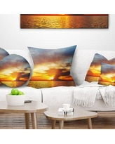 Check Out Some Sweet Savings On Seashore Pink Sky Over Dark Beach At Sunset Pillow East Urban Home Size 16 X 16 Product Type Throw Pillow
