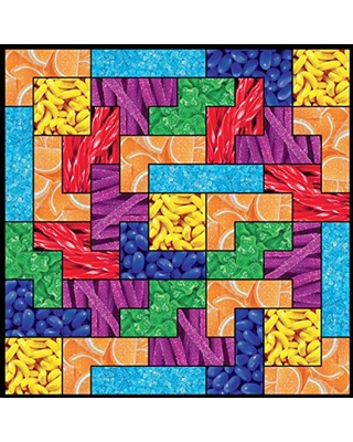 Ceaco 750 Piece Tetris - Candy Jigsaw Puzzle, Kids and Adults