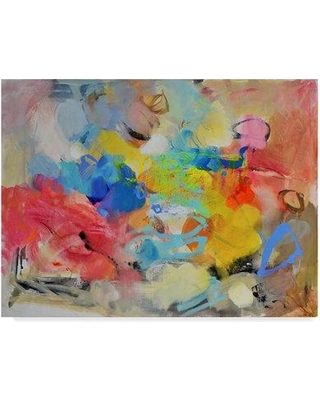 """Trademark Art 'Oil Paint' Acrylic Painting Print on Wrapped Canvas ALI34784-CGG Size: 14"""" H x 19"""" W x 2"""" D"""