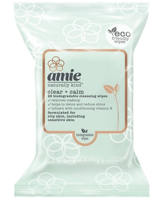 Amie Clear & Calm Cleansing Wipes - Green - 25ct
