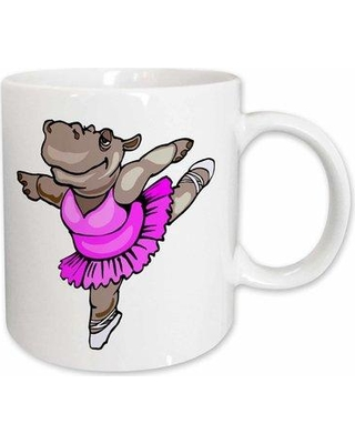 East Urban Home Hippo Ballet Dancer Coffee Mug W000831602