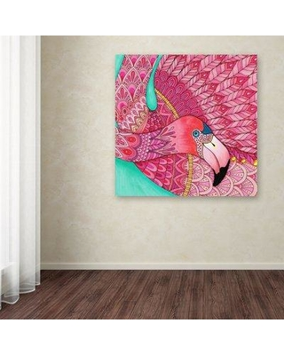 """East Urban Home 'Tropical Paradise 33 Color' Drawing Print on Wrapped Canvas ETRB2165 Size: 14"""" H x 14"""" W"""