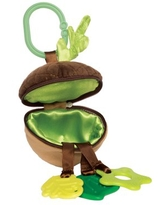 Manhattan Toy Camp Acorn Zip & Play Zip and Play Teether and Travel Baby Toy
