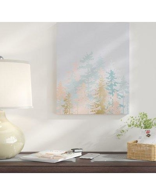 """East Urban Home 'Blush Forest' Print EUBM5292 Size: 10"""" H x 8"""" W Format: Wrapped Canvas"""