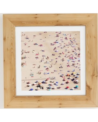 Ingrid Beddoes Beach Love Art Print - Brown 20 In Sq at Urban Outfitters