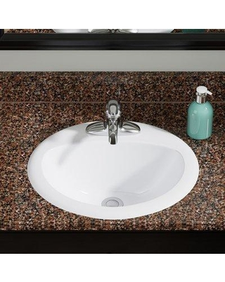 MRDirect Vitreous China Oval Drop-In Bathroom Sink with Overflow MRDR1928 Sink Finish: White