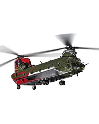 Corgi Diecast Boeing Chinook HC.4 RAF No.18 100 Years 1:72 Military Helicopter Display Model AA34215