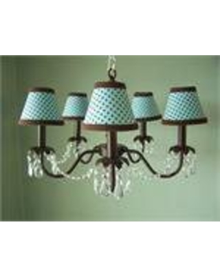 Camillah 5 - Light Shaded Classic / Traditional Chandelier Silly Bear Lighting Shade: Strawberry Sprinkles