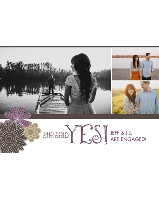Engagement Party Invitations 5x7 Cards, Premium Cardstock 120lb, Card & Stationery -She Said Yes! Engagement Announcement