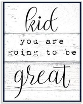 Harriet Bee 'Kid You Are Going To Be Great Typography' Wall Art HBEE6970 Size: 15'' H x 10'' W Format: Plaque