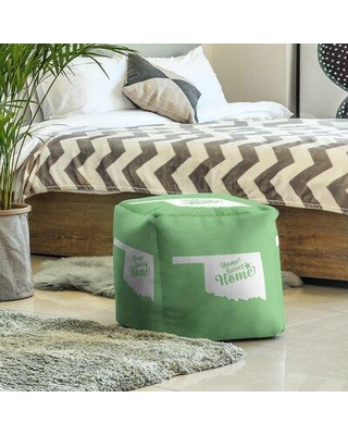 East Urban Home Sweet Home Tulsa Cube Ottoman EBJC3136 Upholstery Color: Green