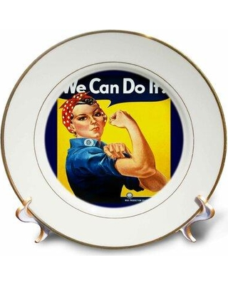 East Urban Home WW II Rosie Poster Porcelain Decorative Plate W001002993