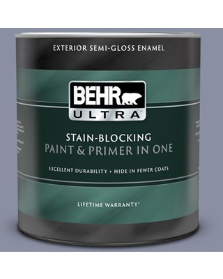 BEHR ULTRA 1 qt. #S550-4 Camelot Semi-Gloss Enamel Exterior Paint and Primer in One