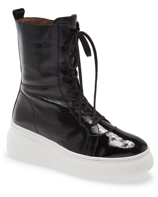 Wonders Leather Boxing Boot, Size 8-8.5Us in Negro at Nordstrom