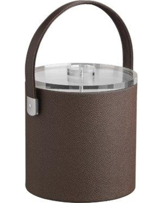 Charlton Home Keesler Ice Bucket with Strap Handle CHRH4672 Color: Mocha Size: 3-qt.
