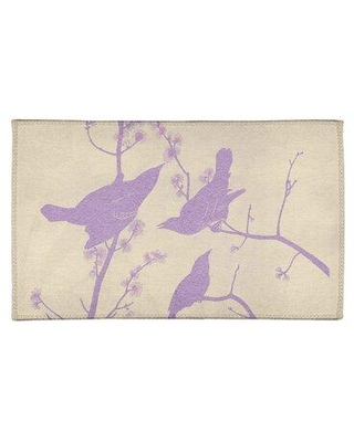 East Urban Home Winged Starling Purple/Beige Area Rug FCLS2434 Rug Size: Rectangle 3' x 5'