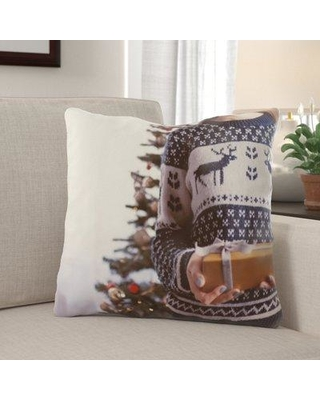 Find The Best Deals On The Holiday Aisle Rawlinson Christmas Indoor Outdoor Canvas Throw Pillow Polyester Polyfill In Brown Blue Size 18x18 Wayfair