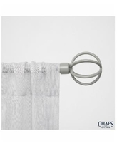 Chaps Home Cage, Window Curtain Rod and Finial Set - Gray