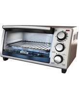 Black+decker 4 Slice Toaster Oven - Stainless Steel