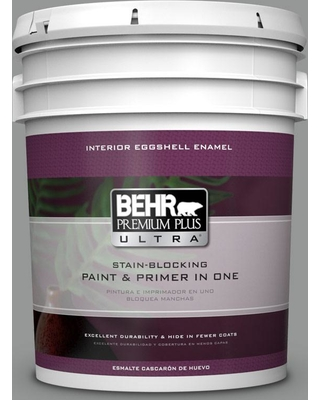BEHR ULTRA 5 gal. #PPU24-19 Shark Fin Eggshell Enamel Interior Paint and Primer in One