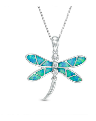 Womens Lab Created Blue Opal Sterling Silver Pendant Necklace, One Size , No Color Family