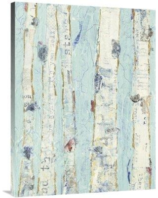 """East Urban Home 'Far From Blue II' Print ESUM6483 Size: 40"""" H x 30"""" W Format: Wrapped Canvas"""