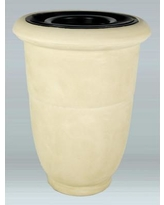 Allied Molded Products Venus 36 Gallon Trash Can 7V2536T Color: Paprika