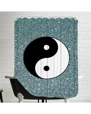 East Urban Home Shiny Ying and Yang Single Shower Curtain ESRB1265