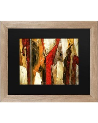 """Wrought Studio 'Abstract IX' Framed Acrylic Painting Print on Canvas W000267743 Size: 16"""" H x 20"""" W x 0.5"""" D Format: Birch"""