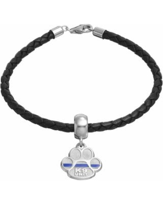 """Insignia Collection Sterling Silver & Leather """"K9 Unit"""" Charm Bracelet, Women's, Size: 7.5"""", multicolor"""