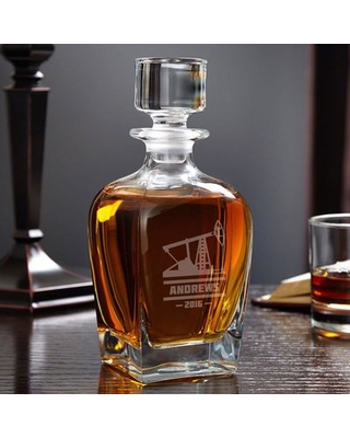 Oilfield Personalized 24 oz. Whiskey Decanter