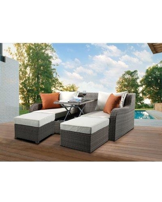Orren Ellis Winebarger Patio Sectional with Cushions BI055057