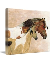Foundry Select 'Buckskin Paints Majestic Horses' Graphic Art Print on Wrapped Canvas FNDS1501