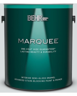 BEHR MARQUEE 1 gal. #ppl-65 Silver Charm Semi-Gloss Enamel Interior Paint and Primer in One