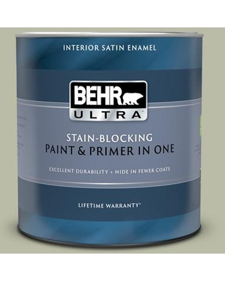 Deals On Behr Ultra 1 Qt Icc 57 Dried Thyme Extra Durable Satin Enamel Interior Paint Primer
