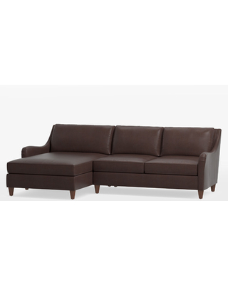 Vailer Leather 2-Piece Chaise Sectional Sofa - Left Chaise
