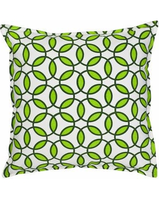 Greendale Home Fashions Rings Cotton Canvas Throw Pillow TP5204- Color: Green