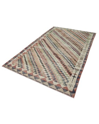 """One-of-a-Kind Ellrich Hand-Knotted 1970s 5'10"""" x 9'7"""" Area Rug in Green/Black/Red Isabelline"""