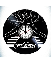The Flash Marvel Handmade Vinyl Record Wall Clock - Get unique room wall decor - Gift ideas for his and her – Modern Unique Home Art Design