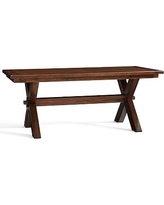 "Toscana Extending Dining Table, 74 x 40"" Tuscan Chestnut stain"