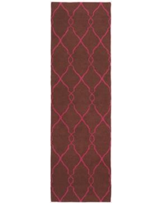 """Darby Home Co Findley Hand-Woven Wool Dark Chocolate Area Rug DRBC9397 Rug Size: Runner 2'6"""" x 8'"""