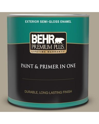 Huge Deal On Behr Premium Plus 1 Qt Ppu8 19 Stone Walls Semi Gloss Enamel Exterior Paint And Primer In One