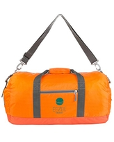 EEZEE Orange Travel Foldable Water Resistant Anti-Tear Luggage Duffel Bag Unisex for Ouside Sports Gym Vacation Travelling Hiking Camping