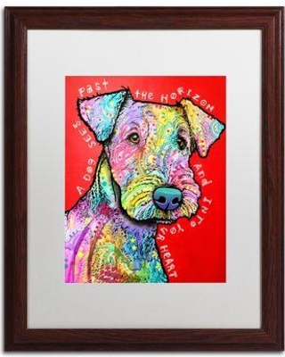 """Trademark Fine Art 'Into Your Heart' by Dean Russo Framed Graphic Art ALI2627-W1 Matte Color: White Size: 20"""" H x 16"""" W x 0.5"""" D"""