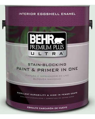 BEHR Premium Plus Ultra 1 gal. #460E-1 Meadow Light Eggshell Enamel Interior Paint and Primer in One