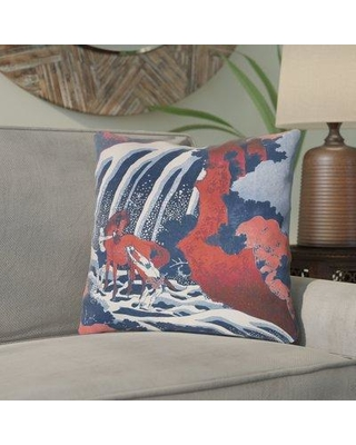 Bloomsbury Market Channelle Horse and Waterfall Throw Pillow BBMT6008