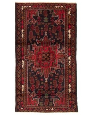 ECARPETGALLERY Hand-knotted Teimani Black, Red Wool Rug - 3'5 x 6'0