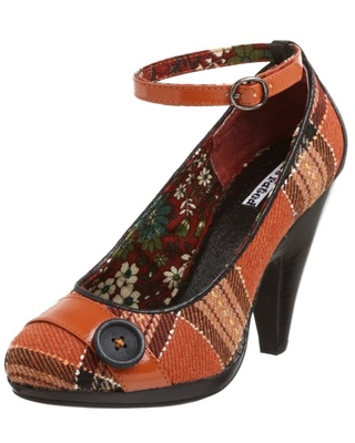 Not Rated Women's Plaid Me Up Pump,Rust,6.5 M