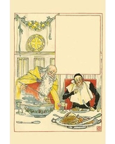 """Buyenlarge 'Father Christmas Served Ash Wednesday' by Walter Crane Painting Print 0-587-31468-0 Size: 42"""" H x 28"""" W x 1.5"""" D"""