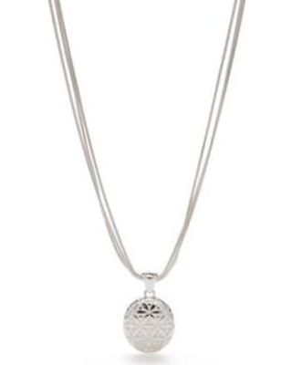 Napier Silver Silver-Tone Point Of View Pendant Necklace